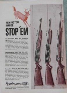 1961 REMINGTON MODELS 742C 760C 725 RIFLES AD   Bridgeport CT