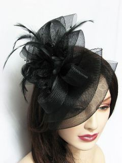 Hat Bow Shape Wedding Party Hair Clip Red, Black, White all CLRs