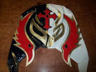 REY MYSTERIO WWE REPLICA WRESTLING MASK RED/WHITE/BLUE