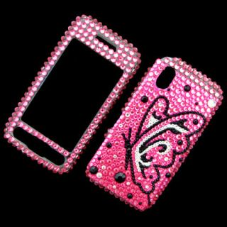 Front & Back Bling Diamond Rhinestone Case Cover For Samsung Tocco