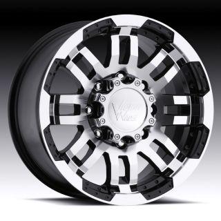 16 inch Vision Warrior Black Wheels Rims 5x5.5 5x139.7 / Dodge Dakota