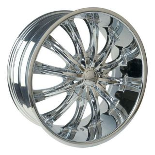 28 INCH RIMS WHEEL TIRE CHROME 6X139 6X135 BENTCHI B15