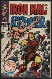 IRON MAN and SUB MARINER #1, 1968, Marvel Comics