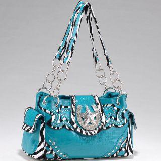 zebra rhinestone print purses