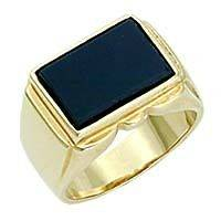 gold ring men onyx