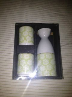 Sake Set and Mini Zen Garden NEW UNUSED