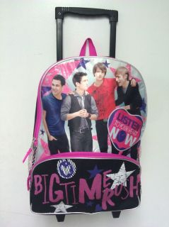NEW Big Time Rush backpack on wheels with matching lunch box case