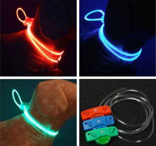 Dog Cat LED light Flashing colourful models Safe Collar Pet Collar