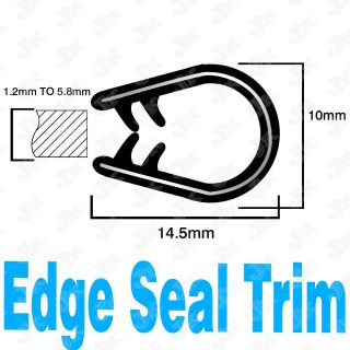 FOOT RUBBER SEAL MOLDING EDGE TRIM THICK 1.2mm 04