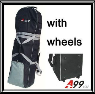 T03 BRAND A99 Golf bag Travel cover wheeled rolling new black