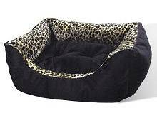 New Leopard Print Pet Cat or Dog Bed Kitty Cats for Small Pets 15 25