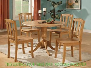 ROUND DINETTE KITCHEN TABLE ONLY   42 DIAMETER WITH 2 DROP LEAVES IN