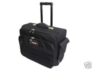Carrier Rolling Carry Case Computer Notebook Bag Briefcase w/Wheels