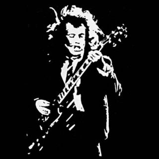 Angus Young ACDC music gibson guitar rock god T Shirt