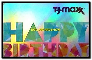 MAXX USA HAPPY BIRTHDAY DISCOUNT GOODS COLORFUL COLLECTIBLE GIFT CARD