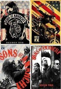 Sons of Anarchy DVD SET. SEASONS 1,2,3,4. New. Region 1