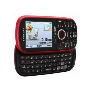 Newly listed Verizon Samsung Intensity SCH U450 QWERTY Red Cell Phone