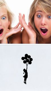 Banksy Small Balloon Girl Laptop / Car / Wall Art Vinyl Stickers CHEAP