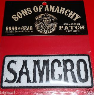 Sons of Anarchy {SAMCRO} New Licensed SOA SEW or IRON ON Road Gear