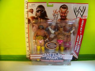 WWE Macho Man Randy Savage and CM Punk Battle Pack with Belt