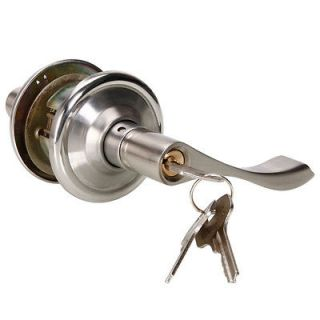 New Stainless Steel Door Lock Pull Handles Knobs Level Entry Exterior