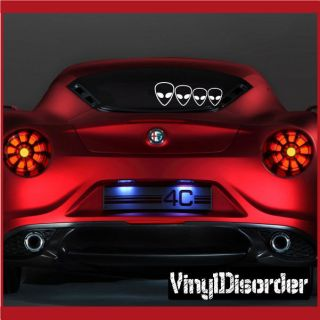 Decal Set Aliens 01 Stick People Car or Wall Vinyl Decal Stickers