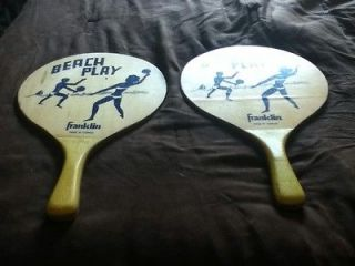 Vintage Franklin Pingpong Ping Pong Table Tennis Paddles Raquets