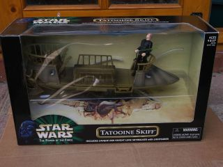 STAR WARS RARE BOXED 2000 POTF POWER OF THE FORCE TATOOINE SKIFF