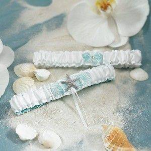 2pc Seaside Allure Starfish Wedding Bridal Garter Set