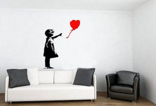 Large Banksy Wall Stickers Graffiti tattoo Style Graphic Vinyl
