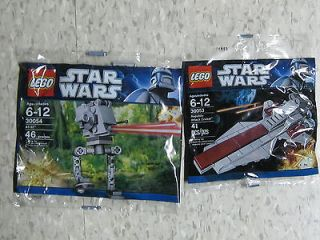 STAR WARS LEGO MINI AT ST WALKER, REPUBLIC ATTACK CRUISER 30053 30054