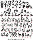 Stick People Figure Vinyl Sticker, Family Car Stickers, Bumper Decal
