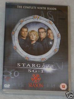 Stargate SG 1 Season 9 Nine Complete DVD Box Set   BRAND NEW UK R2