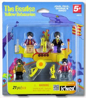 BEATLES YELLOW SUBMARINE 21 PIECE KNEX MINI FIGURE SET JOHN PAUL