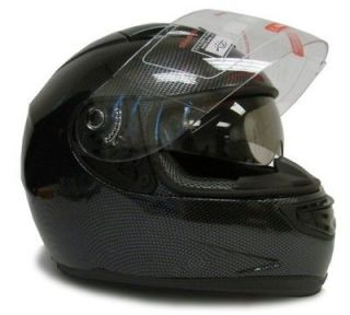 DUAL SHIELD FULL FACE MOTORCYCLE SPORTBIKE HELMET SMOKE SUN VISOR~M