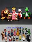Nintendo Super Mario Brothers Bros 6 PVC Figures Toys