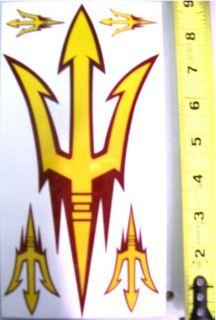 Arizone State Sun Devils ASU Fork Decal Sheet   Large