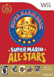 SUPER MARIO BROS BROTHERS ALL STARS NINTENDO WII GAME