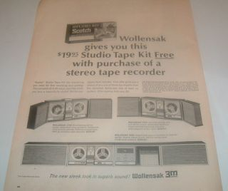 1960s 3M Wollensak Audio Scotch Tape Recorder ad C MY STORE