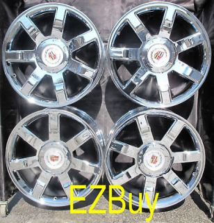 22 INCH ESCALADE FACTORY NEW CHROME WHEELS RIMS 5309 WITH FACTORY