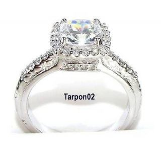 Tacori Epiphany 2.50ct. Diamonique Fancy CUSHION Bloom  Ring 8