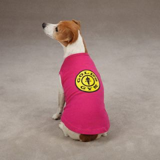 DOG CLOTHES~GOLDS GYM Tank Tops for Dog Body Builder Athlete PINK