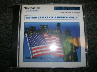Technics Keyboard Software United Styles of America Vol. 4 Hollywood