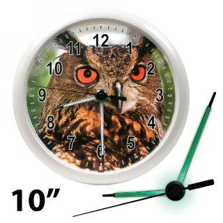 Owl 10 La Crosse Wall Clock with LED Glowing Hands NEW Model 403 310E