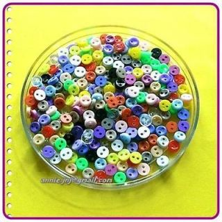 Mini Doll Clothing Tiny Micro Mix Multi Colour Doll Button 5mm 8L