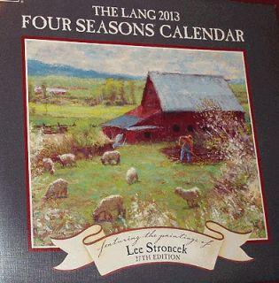 2013 Lang Four Seasons Wall Calendar Artwork of Lee Stroncek Outdoor
