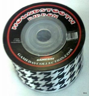 Alabama Crimson Tide Houndstooth Ribbon Bama Roll Tide Bear Bryant