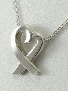 tiffany co paloma picasso sterling loving heart pendant necklace