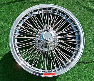 Set   4 Brand NEW Chrome 18 inch REAL Dayton Wire WHEELS Jaguar