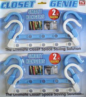 Pack Of Smart HANGERS Space SAVING Closet ORGANIZER
